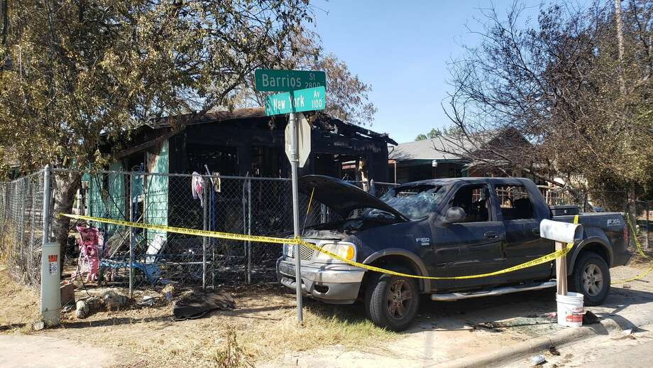 A possible electrical failure could have caused the fire at this home on Barrios Street and South New York Avenue, according to first responders. Photo: Cesar Rodriguez/Laredo Morning Times