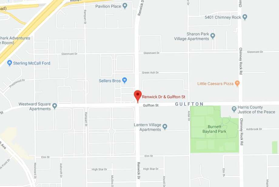 Houston police, along with the department's air support division, is pursuing a suspect who fled on foot in southwest Houston after a vehicle pursuit, officials said. Photo: Google
