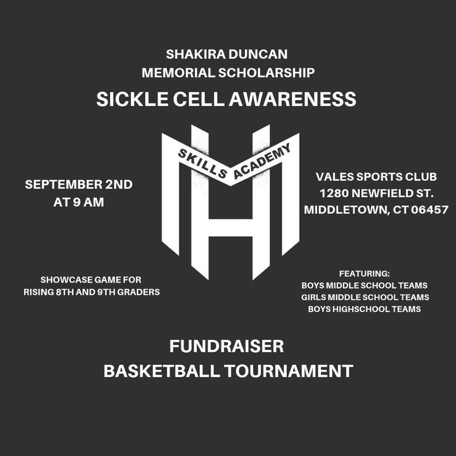 The Mustapha Heron Skills Academy will be hosting a Shakira Duncan Memorial Scholarship Sickle Cell Awareness Fundraiser Basketball Tournament in September in Middletown. Photo: Contributed Photo