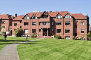 #41. University of Puget Sound    - Location: Tacoma, WA  - Acceptance rate: 84%  - Net price: $40,065  - SAT range: 1110-1330  - Median earnings six years after graduation: $52,700  - Overall rank: #303     This slideshow was first published on  theStacker.com