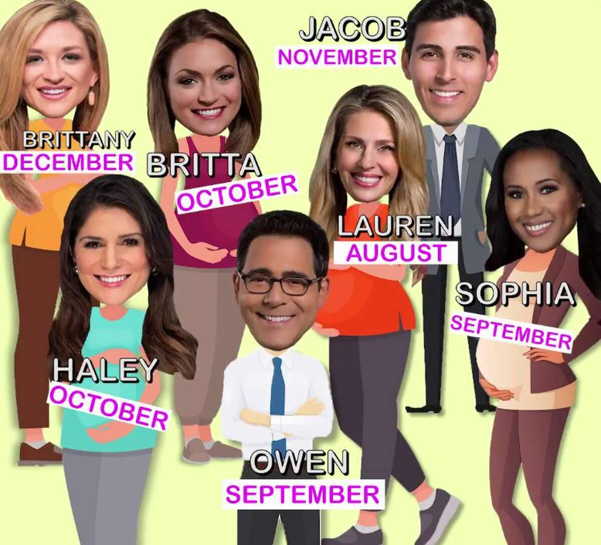 I'm one of several expecting parents at KPRC Channel 2. We are calling it