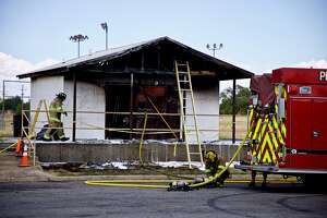 A fire destroyed the bathrooms at Kidsville Monday morning.
