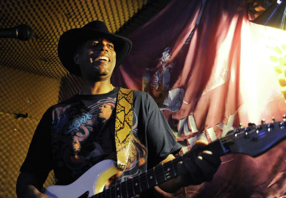 State Sen. George Logan, R-Ansonia, will bring his Electric Lady Band, which pays tribute to the songs of Jimi Hendrix, to Rock the Valley at Ansonia's Nolan Field on Aug. 24, 2019. The festival, which will run from 2 p.m. to 10 p.m., concludes with fireworks. Photo: Brian A. Pounds / Hearst Connecticut Media / Connecticut Post