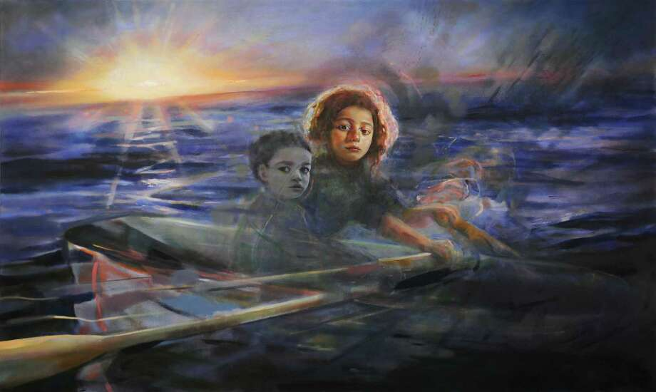 """Children at Sea"" by Katelyn Alain, part of the ""Vision and Metaphor"" exhibit that opens Aug. 27 at the New Canaan Library. Photo: Contributed Photo / New Canaan Library / New Canaan Advertiser Contributed"