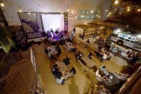 Saturday night at Cultura Beer Garden.
