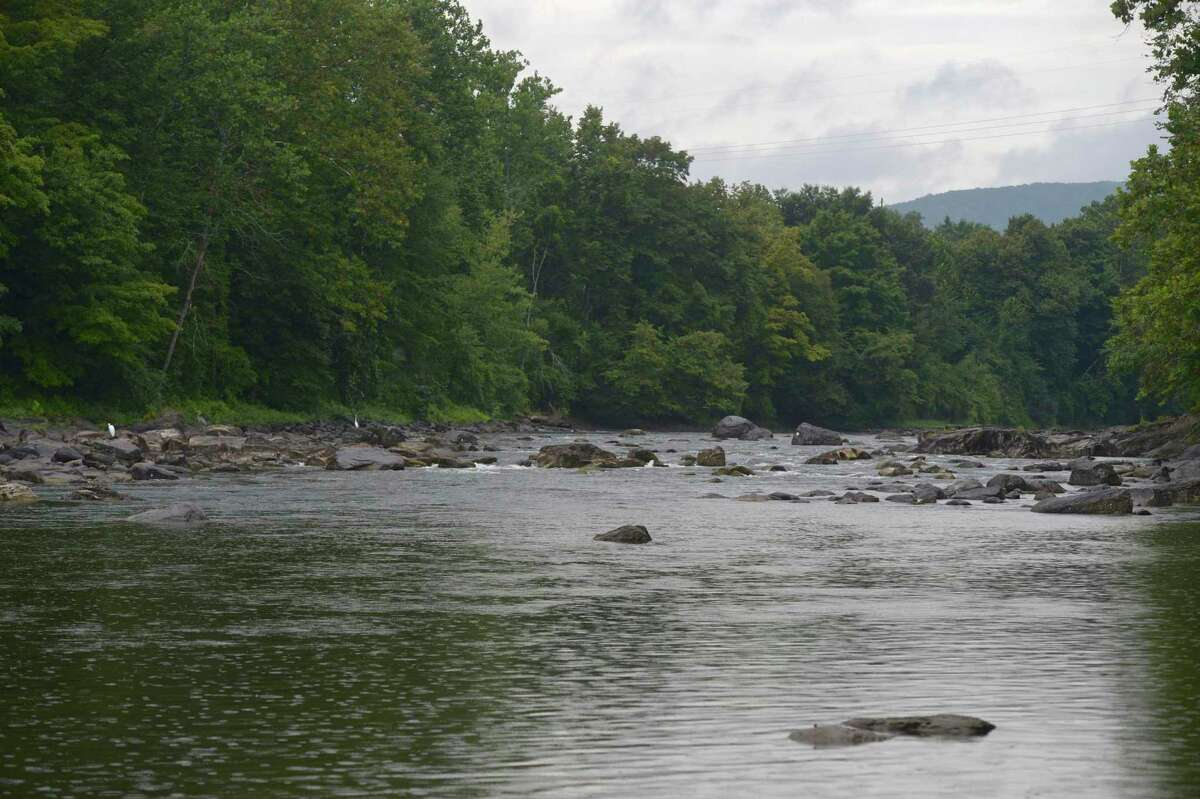 Housatonic River along Kent Road (Route 7) in the Gaylordsville section of New Milford, Conn.