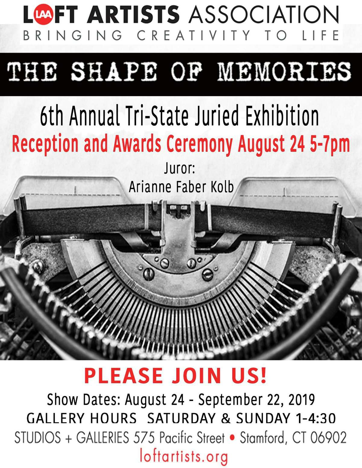 Stamford's Loft Artists Association's sixth annual Tri-state juried exhibition,