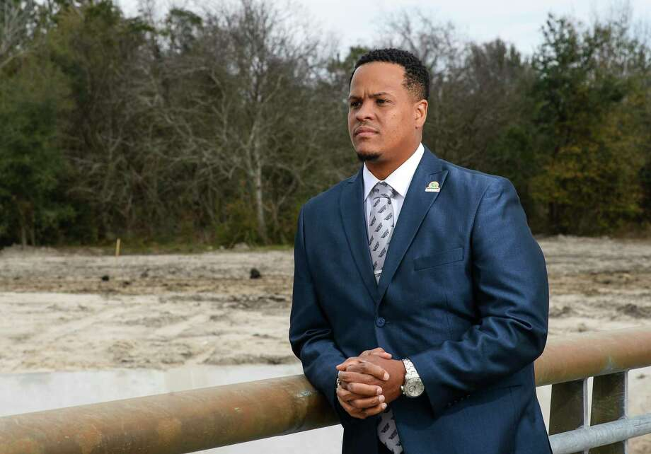 Orange Mayor Larry Spears poses for a photo in front a possible location for a sports complex that he is spearheading for the city.  Photo taken on Thursday, 01/31/19.  Ryan Welch/The Enterprise Photo: Ryan Welch / Ryan Welch/The Enterprise / ©Ryan Welch