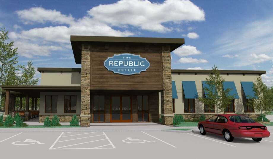 This architectural rendering shows what the third location of The Republic Grille will look like when it is expected to open in early 2020. Jennifer and Terry McBurney are the co-founders and co-owners of The Republic Grille, which has two locations in The Woodlands and serves tradtitional Southern and Texas cuisine. The couple announced on Monday, Aug. 12, the construction of a new, third location, which will be in Spring near the intersection of Rayford Road and The Grand Parkway. Photo: Courtesy Images/The Republic Grille / Courtesy Images/The Republic Grille