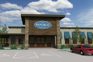 This architectural rendering shows what the third location of The Republic Grille will look like when it is expected to open in early 2020. Jennifer and Terry McBurney are the co-founders and co-owners of The Republic Grille, which has two locations in The Woodlands and serves tradtitional Southern and Texas cuisine. The couple announced on Monday, Aug. 12, the construction of a new, third location, which will be in Spring near the intersection of Rayford Road and The Grand Parkway.