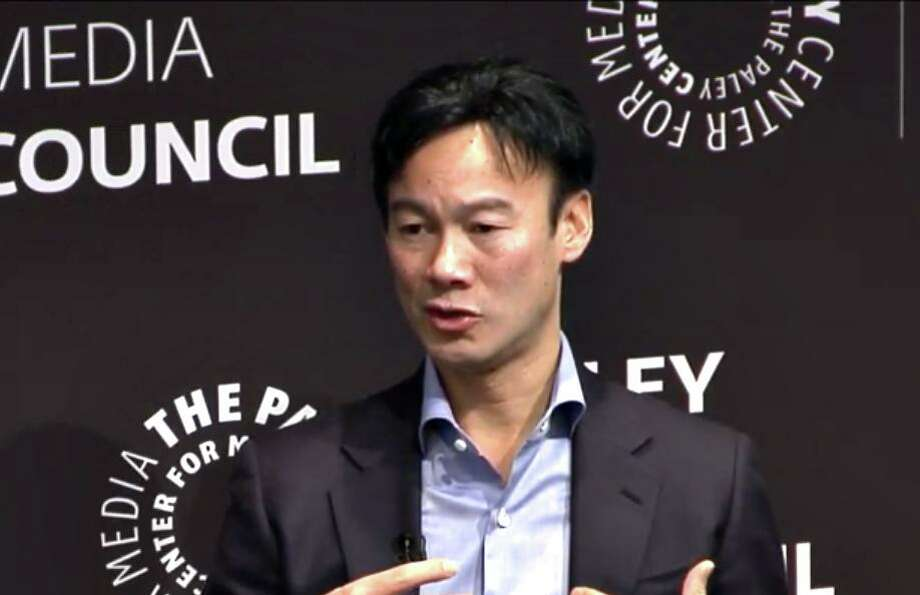 Altice USA CEO Dexter Goei during a December panel in New York City sponsored by the Paley Center for Media. Photo: Contributed Image
