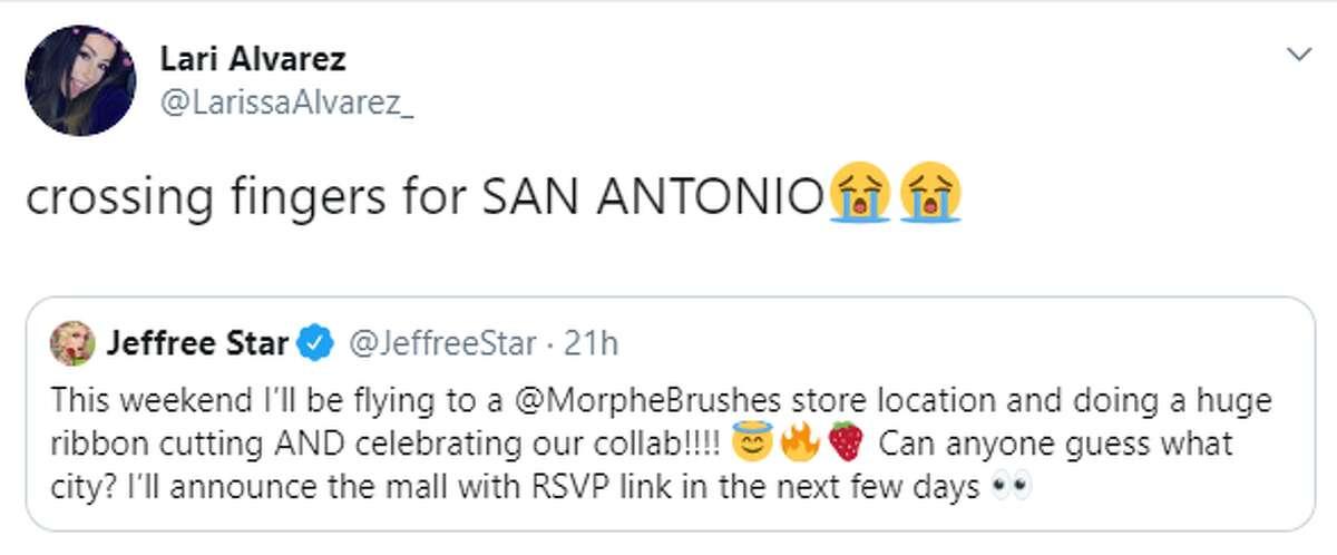 @LarissaAlvarez: crossing fingers for San Antonio