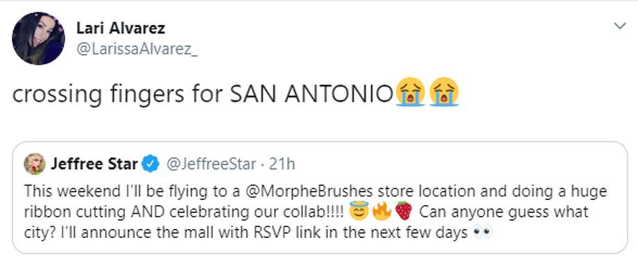 San Antonio Morphe fans hoping Jeffree Star will be at new North Star Mall store this weekend - Photo