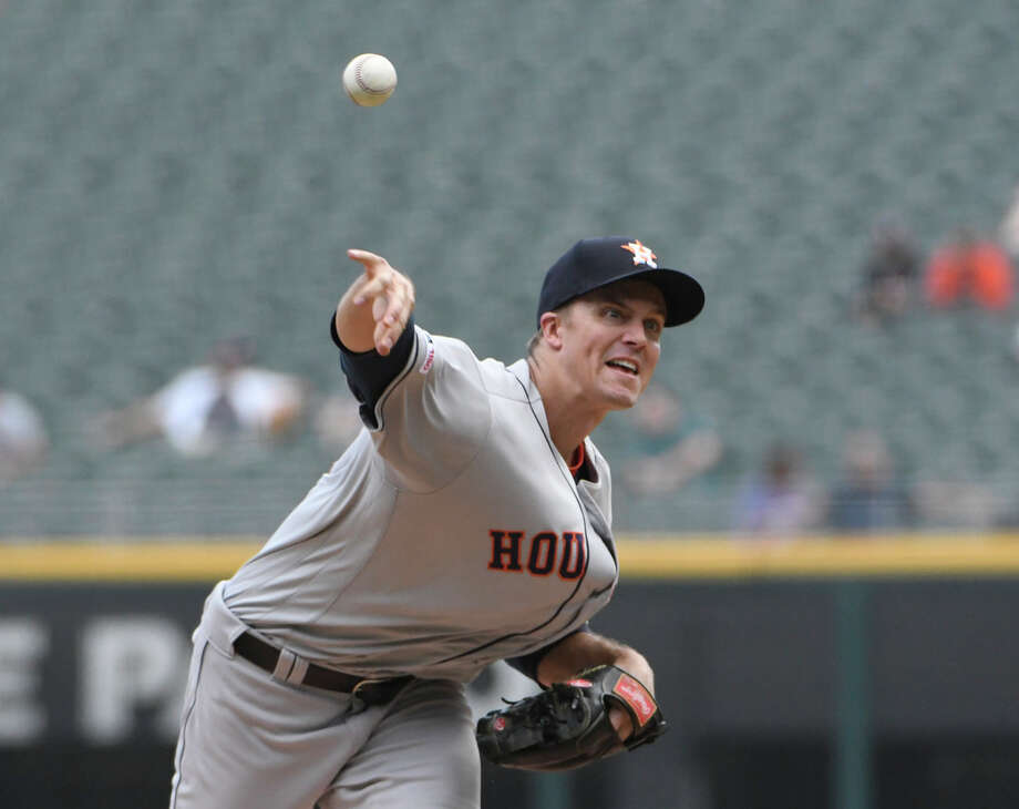PHOTOS: Giveaways for fans at Astros home games the rest of this season Houston Astros starting pitcher Zack Greinke (21) throws against the Chicago White Sox during the first inning of game one of a baseball doubleheader, Tuesday, Aug. 13, 2019, in Chicago. (AP Photo/David Banks) Go through the photos above for a look at the promotions left on the Astros home schedule this regular season ... Photo: David Banks, Associated Press / Copyright 2019 The Associated Press. All rights reserved.