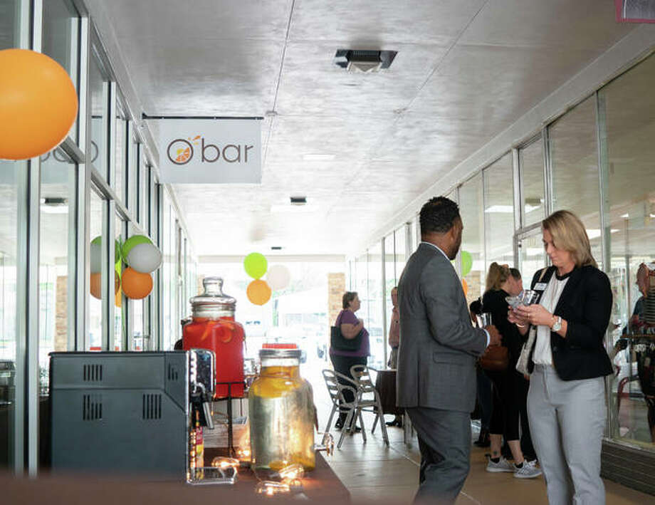 Community members mingle in the breezeway for Obar's tasting testing event back in May. Photo: Breanna Booker | Intelligencer File Photo