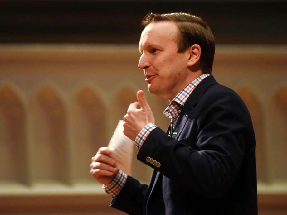 U.S. Sen. Chris Murphy has spoken to President Donald Trump about possible legislation involving background checks for gun purchasers. Photo: Tyler Sizemore / Hearst Connecticut Media / Greenwich Time