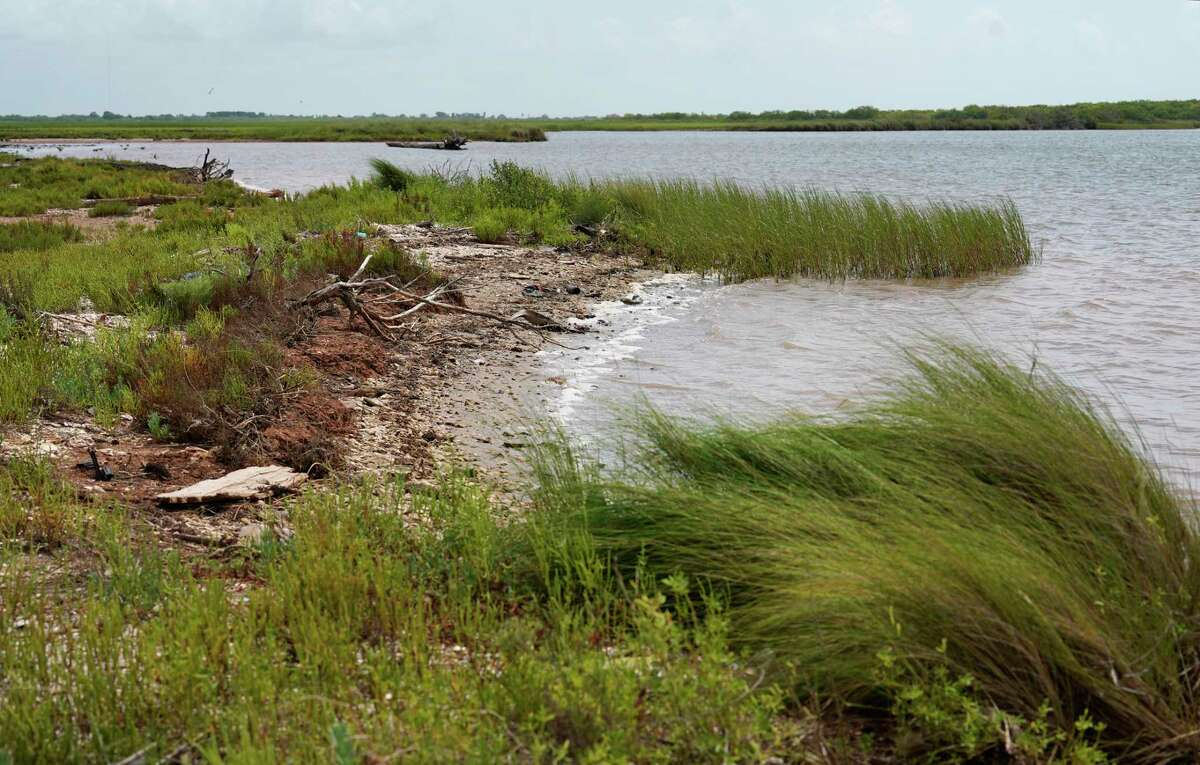 The Intracoastal Waterway borders a portion of the family land of Herff Cornelius, shown here on Tuesday, July 16, 2019, in Sargent. He hopes the new Texas Coastal Exchange program will help to protect the land for future generations.