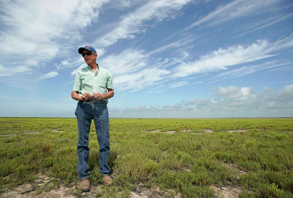 Herff Cornelius talks about his family's land Tuesday, July 16, 2019, in Sargent. He hopes the new Texas Coastal Exchange program will help to protect the land for future generations.