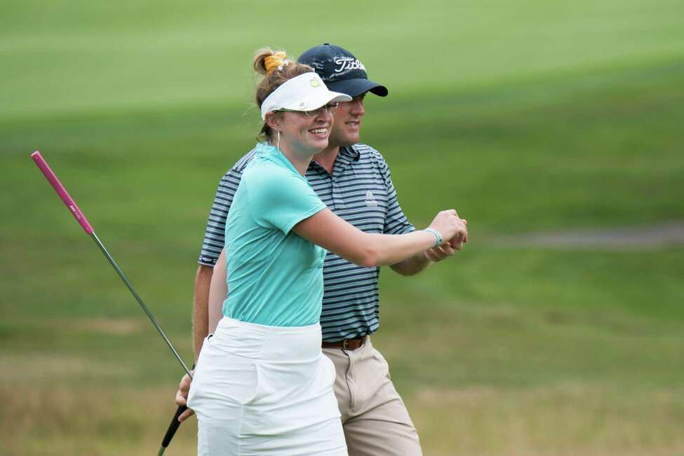 Madison Braman of Latham and her cousin, Nick Braman of Menands, repeated as champions Monday August 12, 2019, in the New York State Golf Association's seventh annual Mixed Team Championships at the Teugega Country Club in Rome. (Dan Thompson/NYSGA)