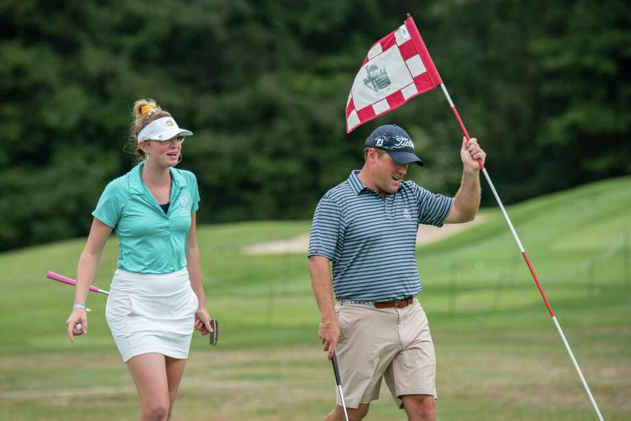 Madison Braman of Latham and her cousin, Nick Braman of Menands, repeated as champions Monday August 12, 2019, in the New York State Golf Association's seventh annual Mixed Team Championships at the Teugega Country Club in Rome. (Dan Thompson/NYSGA) Photo: Dan Thompson / NYSGA