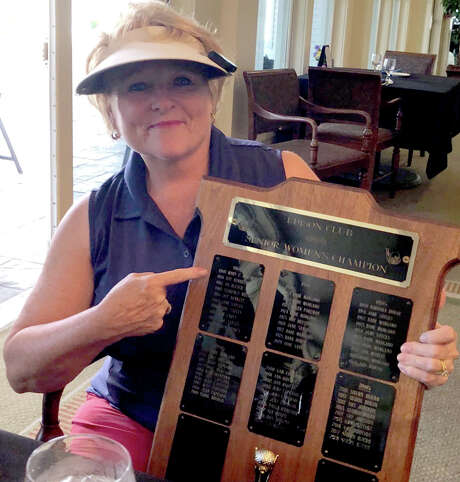 """Mary-Jane """"M.J."""" Quick-Crowley won the Edison Club's Senior Women's Championship on Sunday, Aug. 11, 2019, and discovered her great aunt Mary Marshall was the winner in 1960. (Provided)"""