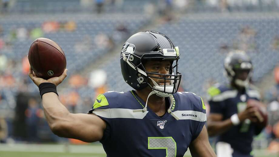 Seattle Seahawks quarterback Russell Wilson Photo: Elaine Thompson / Associated Press