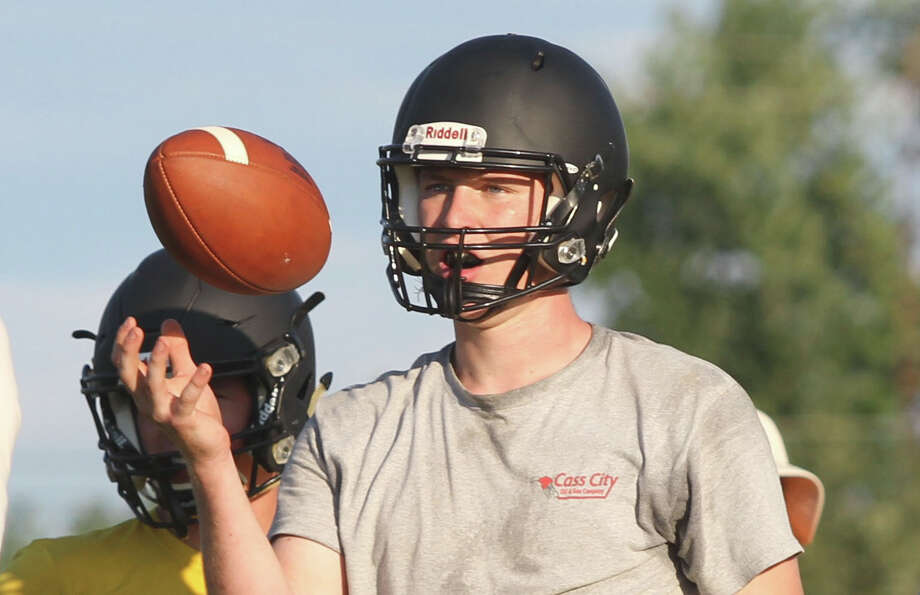 The Ubly Bearcats practice Tuesday ahead of their season-opener at home against Unionville-Sebewaing. Photo: Eric Rutter/Huron Daily Tribune
