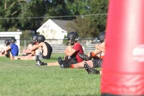 The Ubly Bearcats practice Tuesday ahead of their season-opener at home against Unionville-Sebewaing.