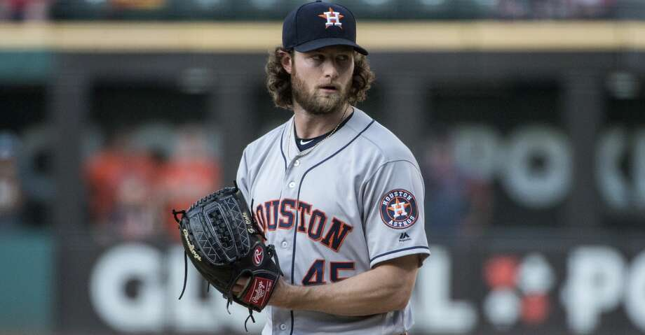 PHOTOS: Astros game-by-game Houston Astros starting pitcher Gerrit Cole prepares to deliver against the Cleveland Indians during a baseball game in Cleveland, Thursday, Aug. 1, 2019. (AP Photo/Phil Long) Browse through the photos to see how the Astros have fared in each game this season. Photo: Phil Long/Associated Press