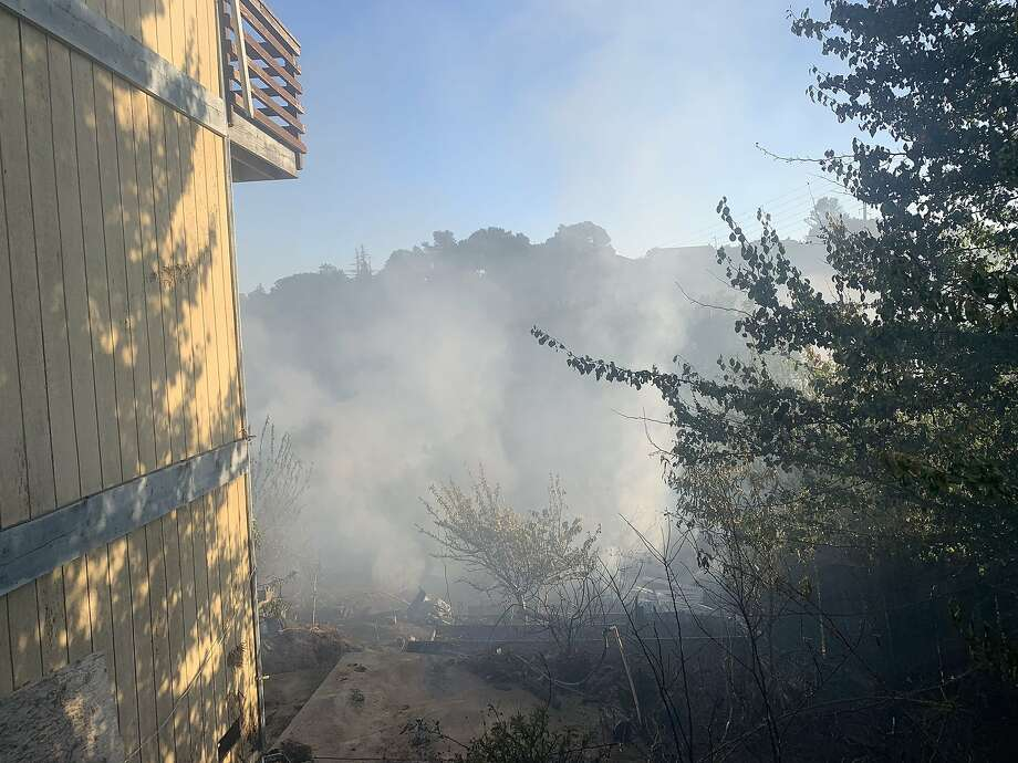 Firefighters were battling a vegetation fire in the Hanns Park area in Vallejo on Tuesday evening, according to the Vallejo Firefighters Association. Photo: Courtesy Of Vallejo Firefighters Association