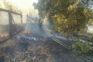 A fire that broke out at Hanns Park in Vallejo forced evacuations along Creekview Drive Tuesday afternoon.