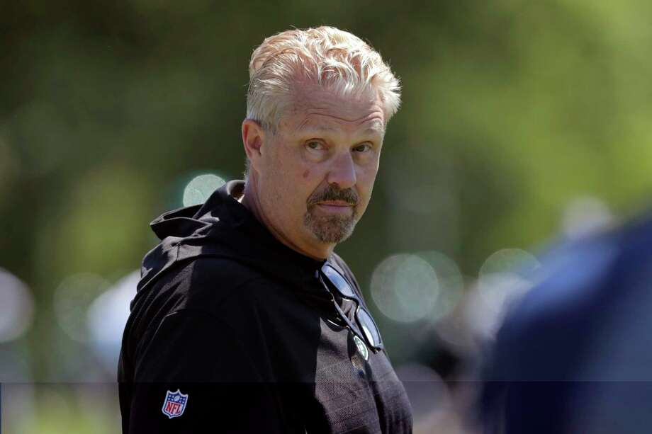 FILE - In this June 4, 2019, file photo, New York Jets defensive coordinator Gregg Williams looks on as his players run drills at the team's NFL football training facility in Florham Park, N.J. Gregg Williams has been described in many ways during his 30-year NFL coaching career _ several flattering, and others not exactly appropriate for young ears. But there's one adjective used by most anyone you ask, love him or hate him. Intense. (AP Photo/Julio Cortez, File) Photo: Julio Cortez / Copyright 2019 The Associated Press. All rights reserved.