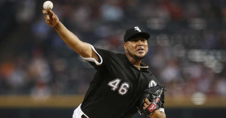 Chicago White Sox starting pitcher Ivan Nova delivers against the Houston Astros during the first inning of the second baseball game of a doubleheader Tuesday, Aug. 13, 2019, in Chicago. (AP Photo/Kamil Krzaczynski) Photo: Kamil Krzaczynski/Associated Press