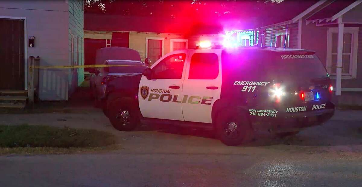 Houston police said a man was shot in the face over a disagreement about the ownership of a litter of puppies.