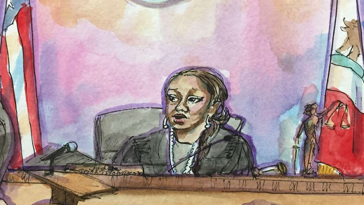 Alameda County Superior Court�s Judge Trina Thompson presides over the Ghost Ship trial on Wednesday, July 31, 2019 in Oakland, Calif.
