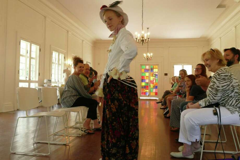 "The Keeler Tavern Museum hosted a fashion show on Aug. 2. The event was part of the third session of Keeler Kids which was themed ""Historic Fashion Design."" Photo: Stephen Coulter / Hearst Connecticut Media"