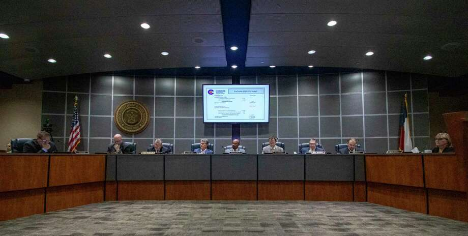 The CISD Board of Trustees meet during a public budget hearing Tuesday, August 6, 2019 at CISD administration building in Conroe. Photo: Cody Bahn, Houston Chronicle / Staff Photographer / © 2019 Houston Chronicle