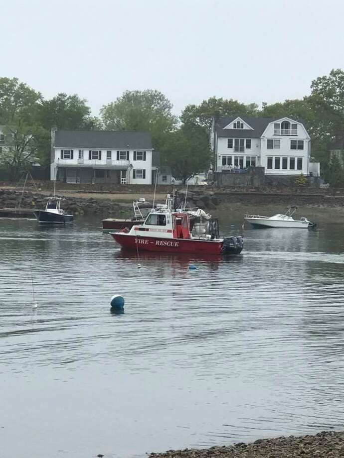Noroton Fire Department's marine unit had a busy weekend last weekend. Photo: Noroton Fire Department / Contributed Photo
