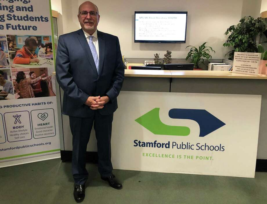 The Stamford Board of Education unanimously voted to name Robert A. Stacy as the district's new executive director of human resources and talent development at a special meeting of the board on Aug. 13. Photo: Sophie Vaughan / Hearst Connecticut Media / Westport News