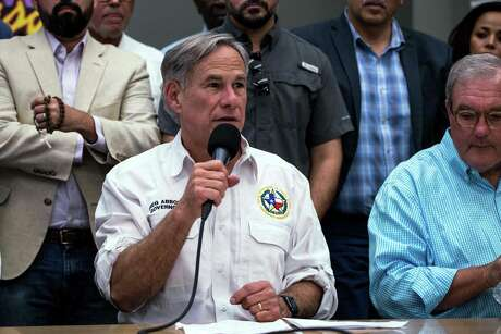 Texas Governor Greg Abbott speaks during a press briefing, following a mass fatal shooting, at the El Paso Regional Communications Center in El Paso, Texas, on August 3, 2019. - A gunman armed with an assault rifle killed 20 people Saturday when he opened fire on shoppers at a packed Walmart store in the latest mass shooting in the United States. (Photo by Joel Angel JUAREZ / AFP)JOEL ANGEL JUAREZ/AFP/Getty Images