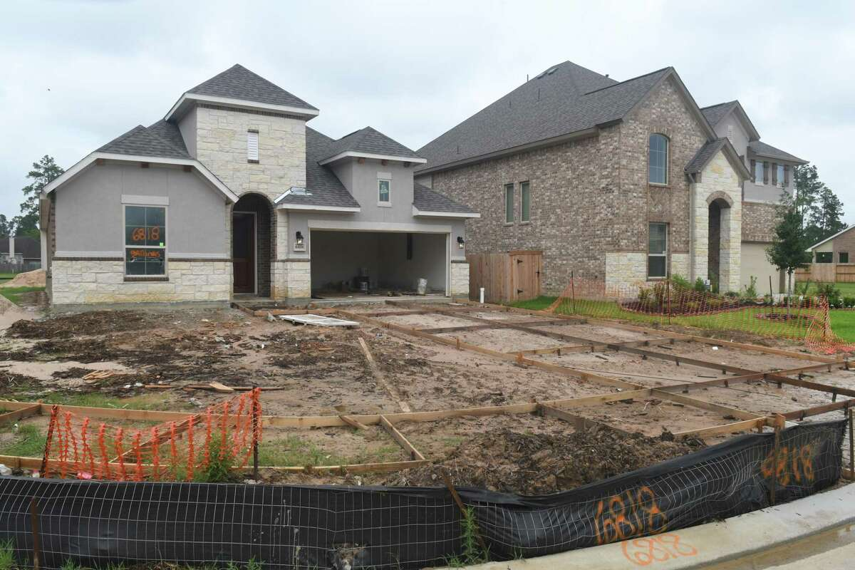 Home construction contnues in the Klein Lake subdivision in Spring on June 21, 2018. (Jerry Baker/For the Chronicle)