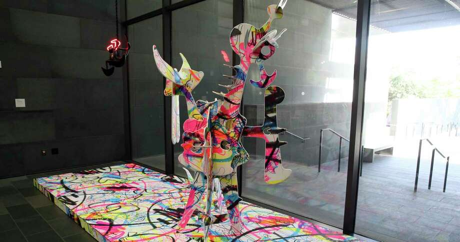 Aaron Curry's installation is in the lobby of the McNay Art Museum. Photo: Express-News File Photo / 2019 SAN ANTONIO EXPRESS-NEWS
