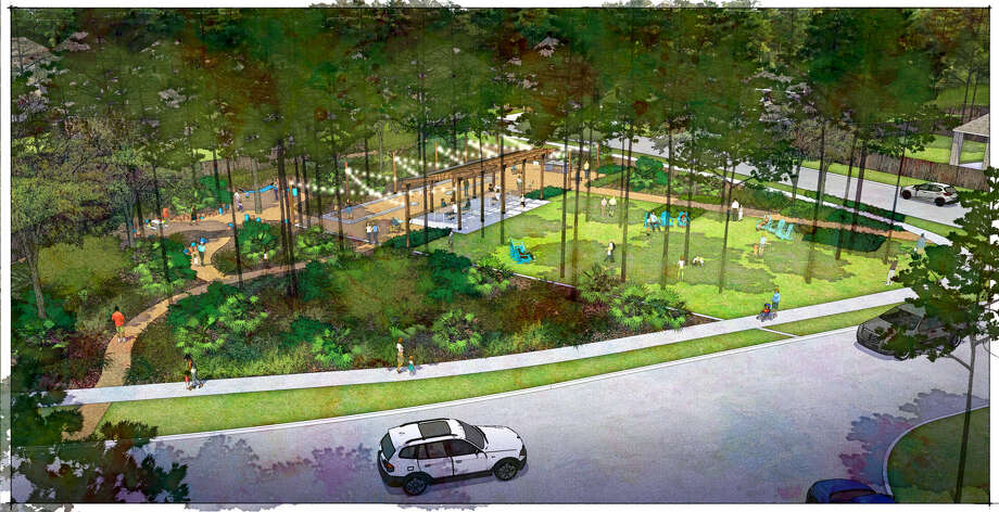 The Canopy at The Groves neighborhood will have a 'beer garden' type park called The Yard. Photo: Ashlar Development