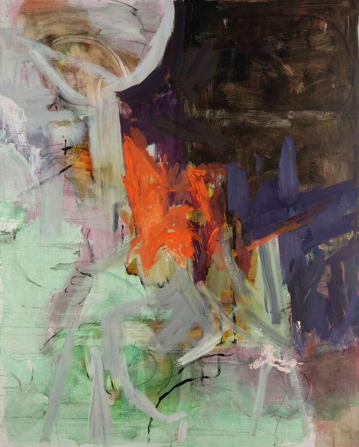 "Lois Dickson's ""Channeling Orange"" at John Davis Gallery in Hudson."