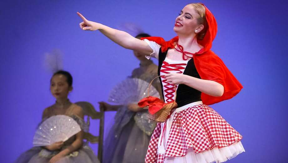 "Eugenia ""Emma"" Cashman of Ridgefield dances as Little Red Riding Hood in the spring production of Sleeping Beauty. Photo: Steve White Photography"