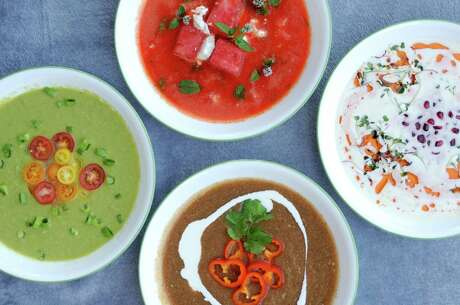 Gazpacho is a perfect way to beat the San Antonio heat. We've given the classic chilled Spanish soup a fresh look in four recipes.