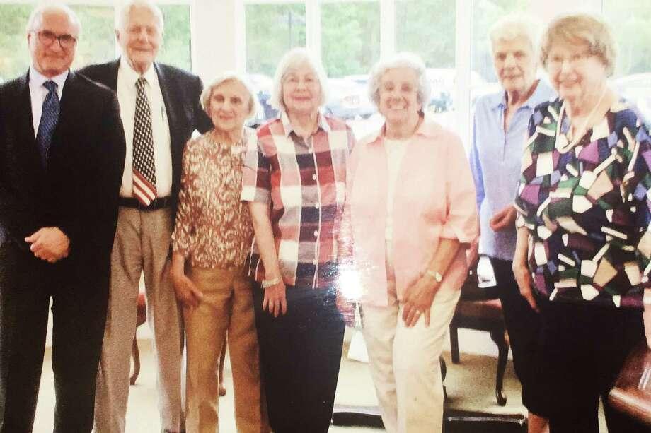 First Selectman Rudy Marconi, Dr. John Fisher, Ann Buccitti, Laurie Saracini, Bunny Lancaster, Celine Kertesz, and Ruth Corbett. Photo: Contributed Photo