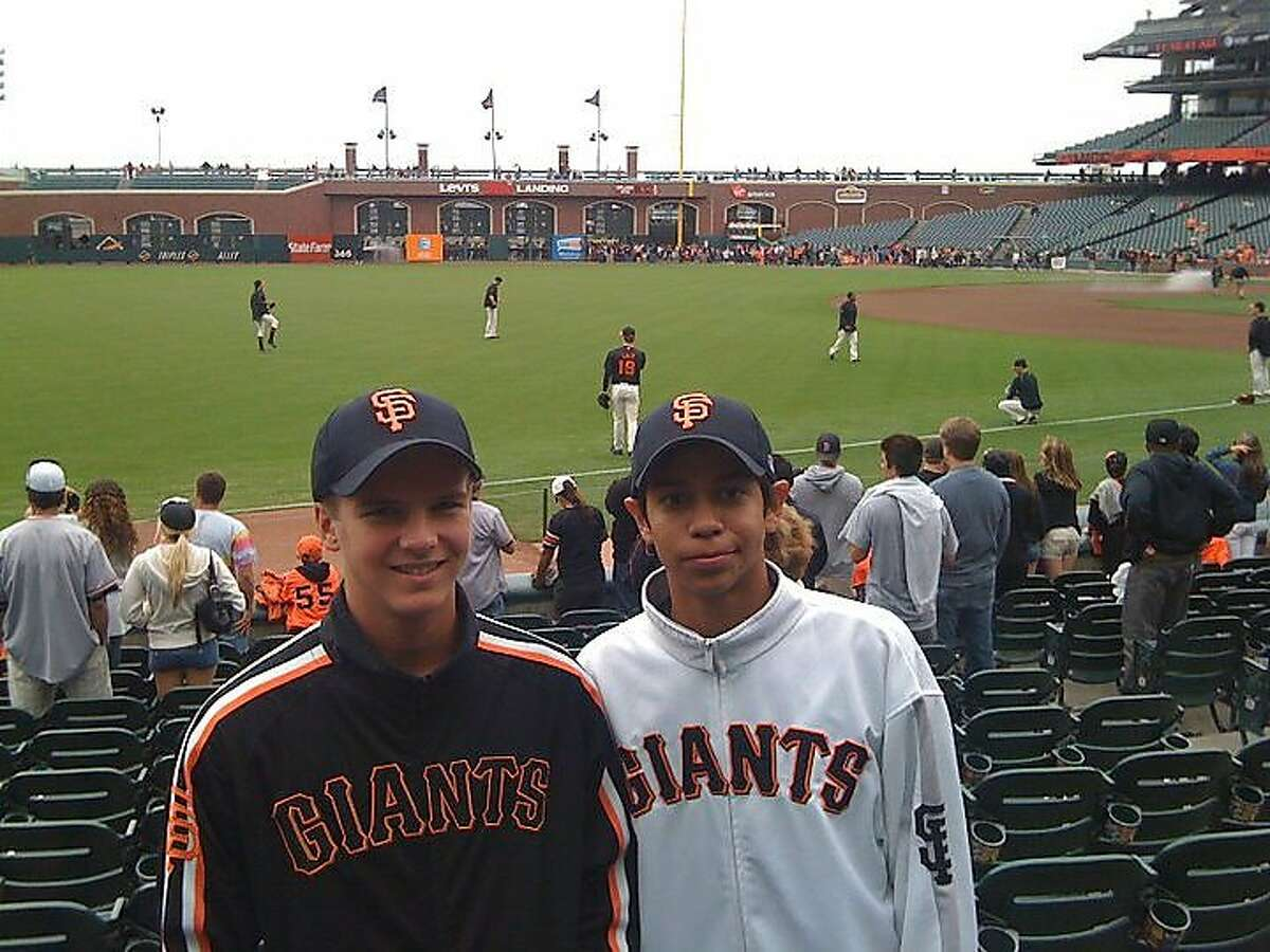 Mauricio Dubon (right), with Ben Ritchey in 2010, always pictured playing in the Giants' ballpark one day.