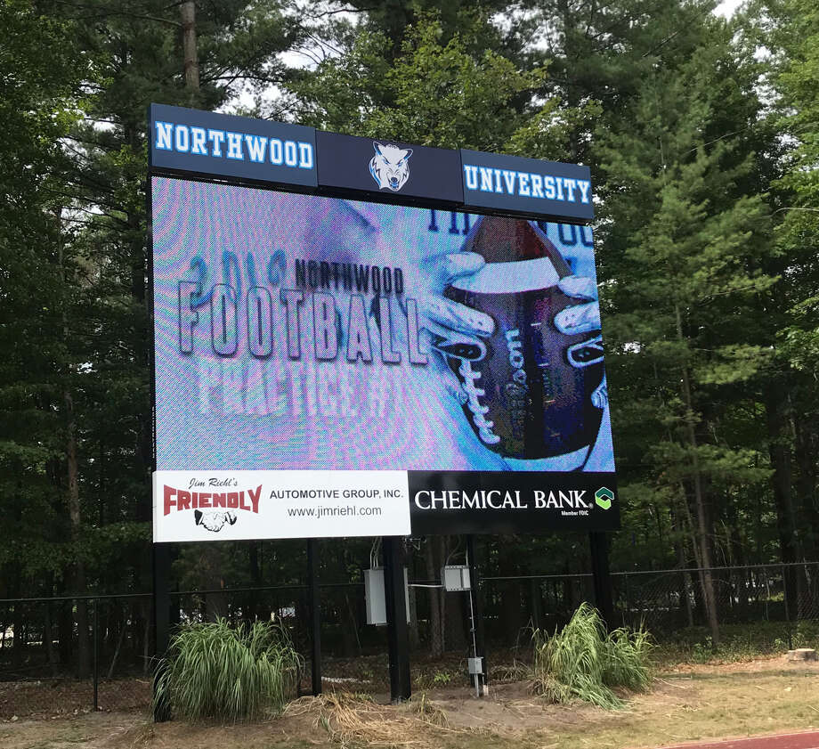 Northwood's new football scoreboard will feature multiple video capabilities. The board, which measures 25 feet by 17 feet, was purchased from Daktronics at the cost of a little over $200,000 and will be ready for the start of the 2019 season. Photo: Photo Provided