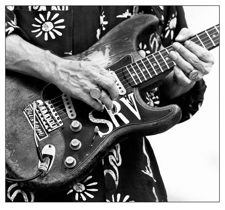 Photo of Stevie Ray Vaughan performing in the 1980s by Houston photographer Tracy Anne Hart. Photo: Tracy Anne Hart